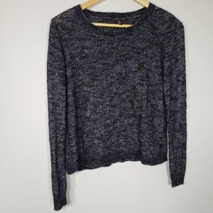 Eileen fisher blue and black sweater